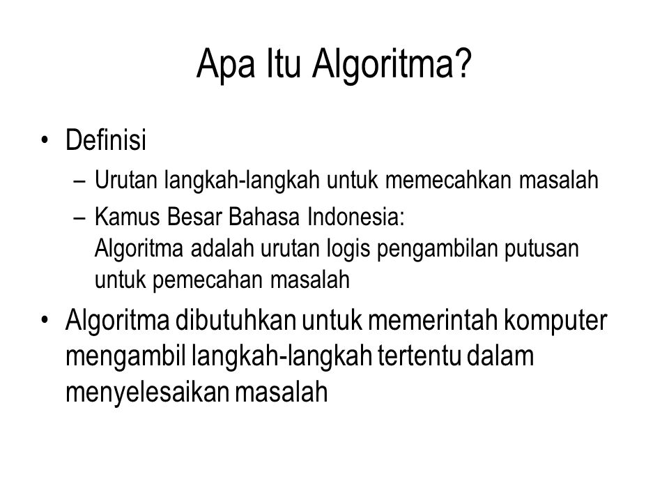 Apa Itu Algoritma Definisi