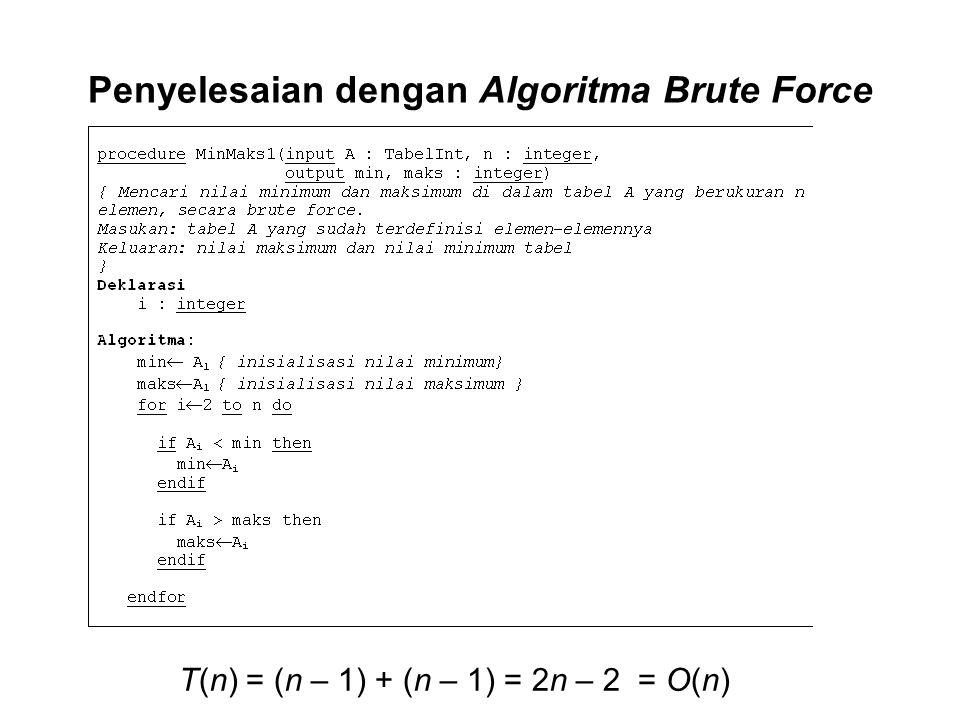 Penyelesaian dengan Algoritma Brute Force