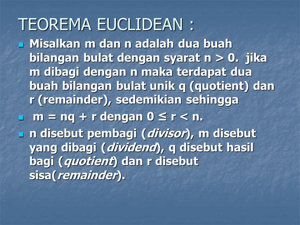 TEOREMA EUCLIDEAN :