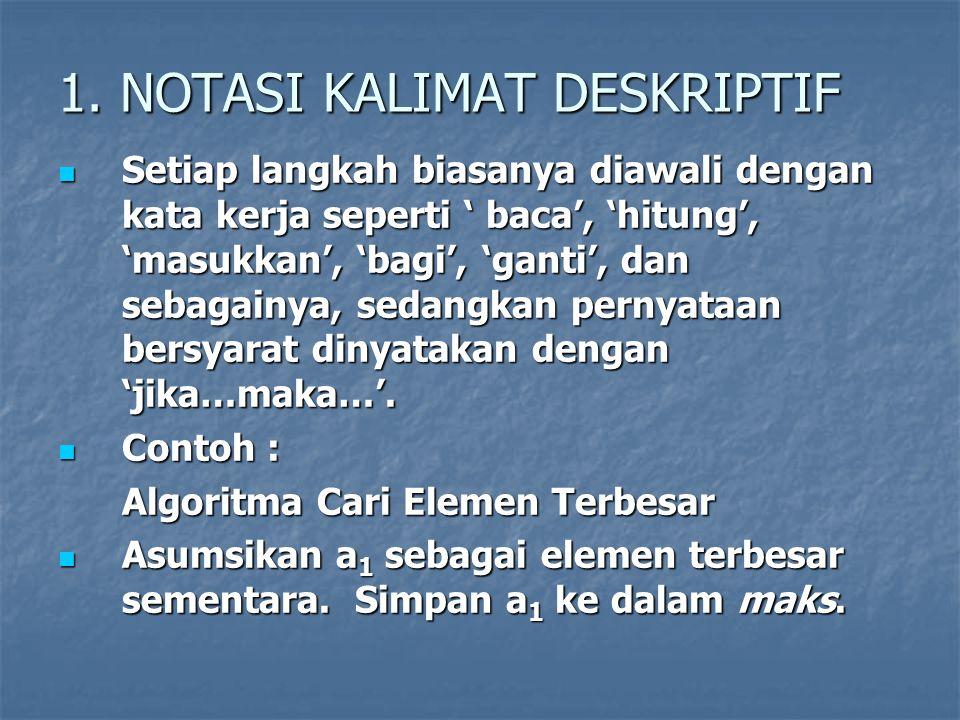 1. NOTASI KALIMAT DESKRIPTIF