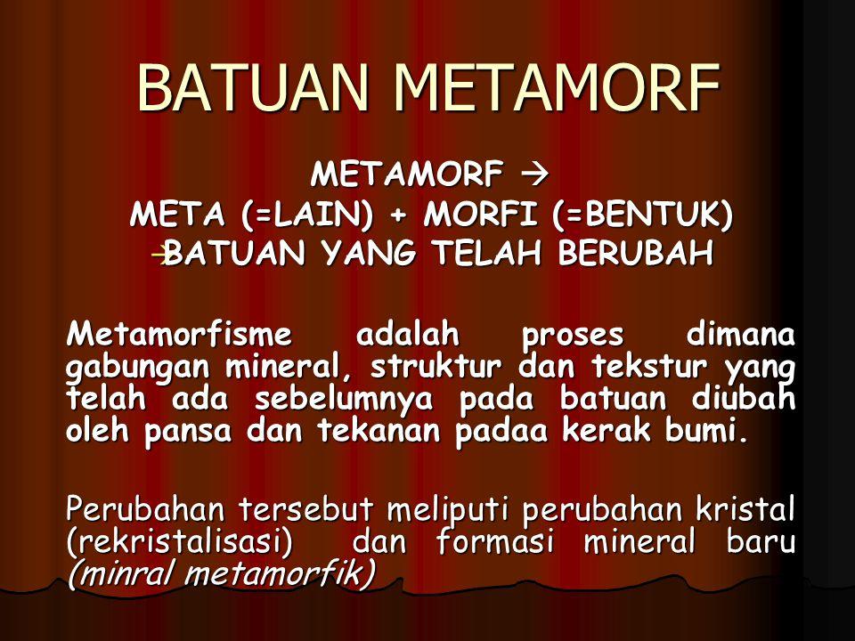 META (=LAIN) + MORFI (=BENTUK) BATUAN YANG TELAH BERUBAH