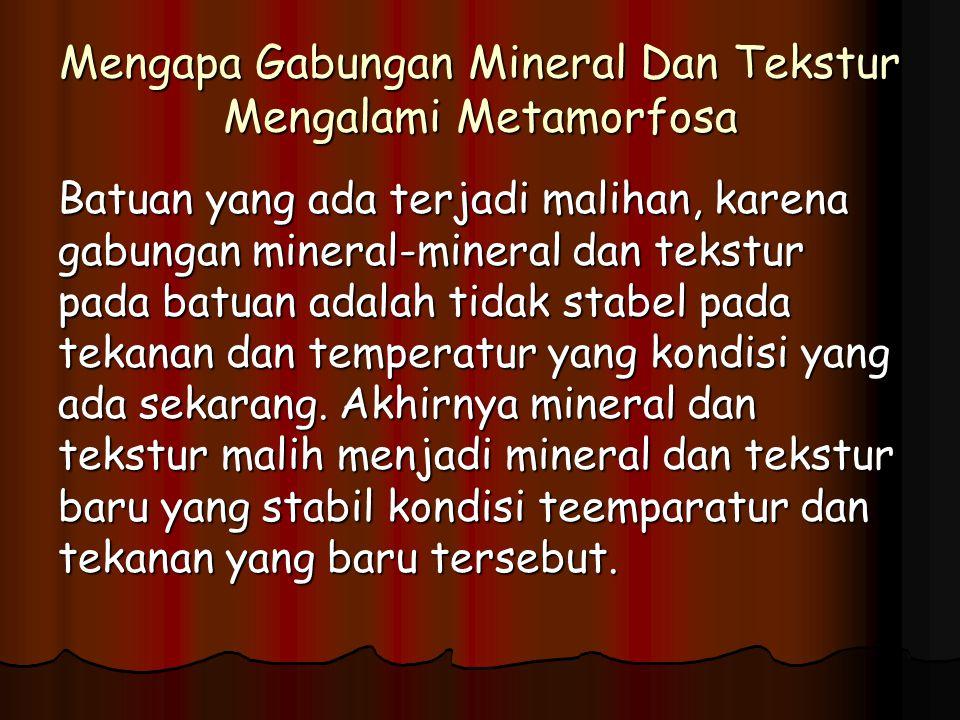 Mengapa Gabungan Mineral Dan Tekstur Mengalami Metamorfosa