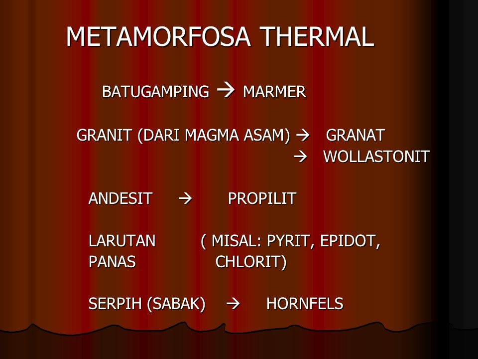 METAMORFOSA THERMAL BATUGAMPING  MARMER