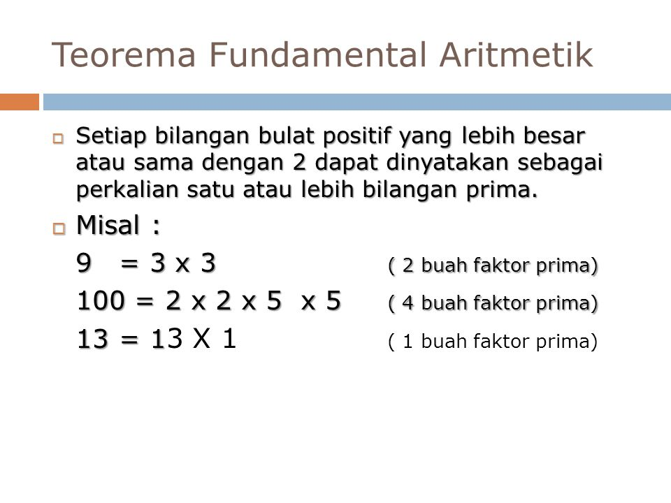Teorema Fundamental Aritmetik