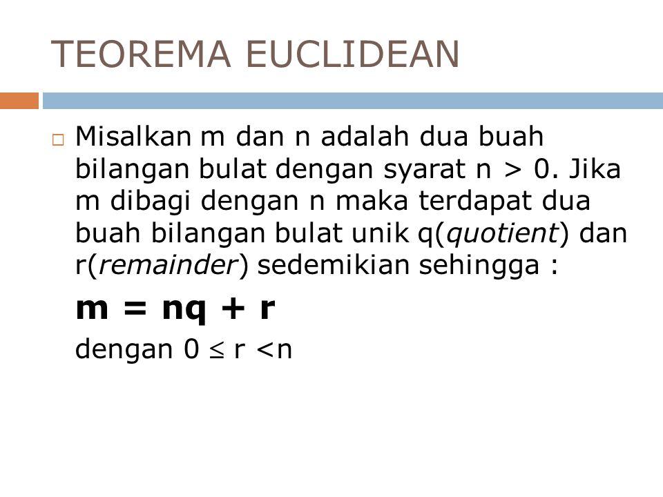 TEOREMA EUCLIDEAN