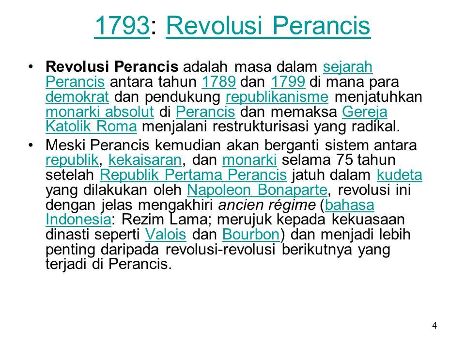 1793: Revolusi Perancis