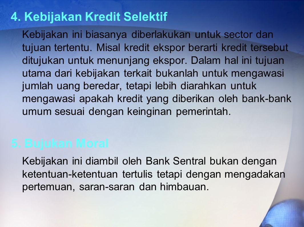 4. Kebijakan Kredit Selektif