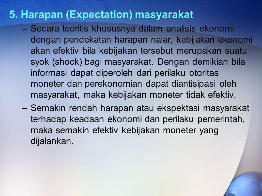 5. Harapan (Expectation) masyarakat