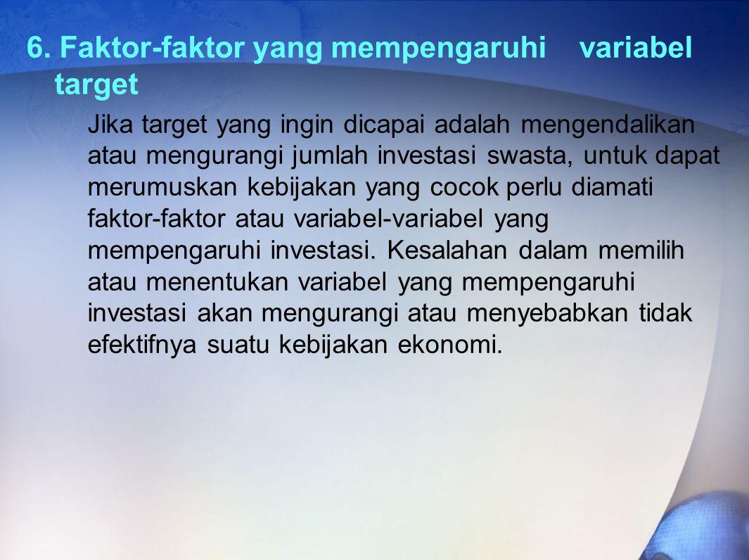6. Faktor-faktor yang mempengaruhi variabel target