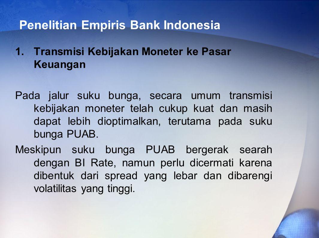 Penelitian Empiris Bank Indonesia