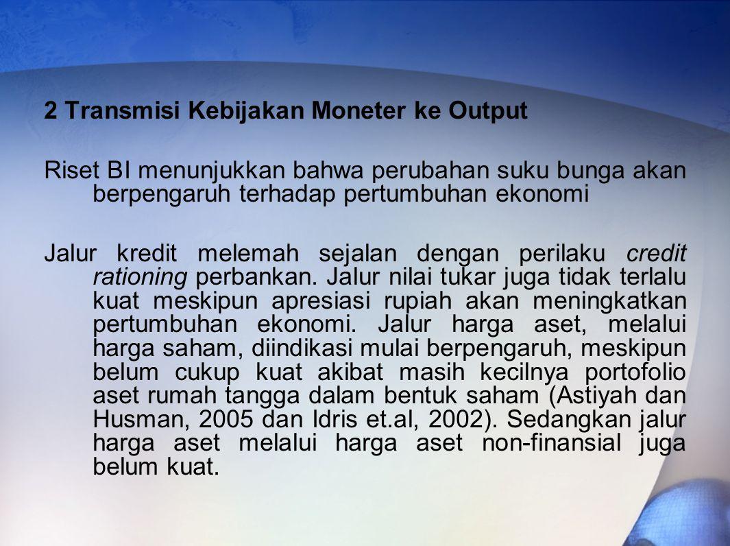 2 Transmisi Kebijakan Moneter ke Output