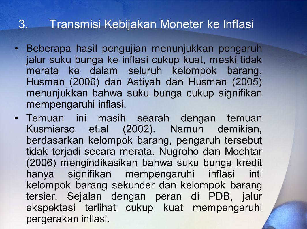 3. Transmisi Kebijakan Moneter ke Inflasi
