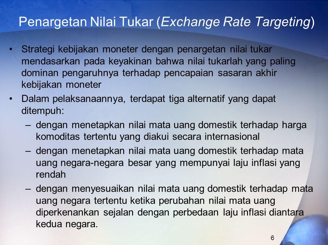 Penargetan Nilai Tukar (Exchange Rate Targeting)