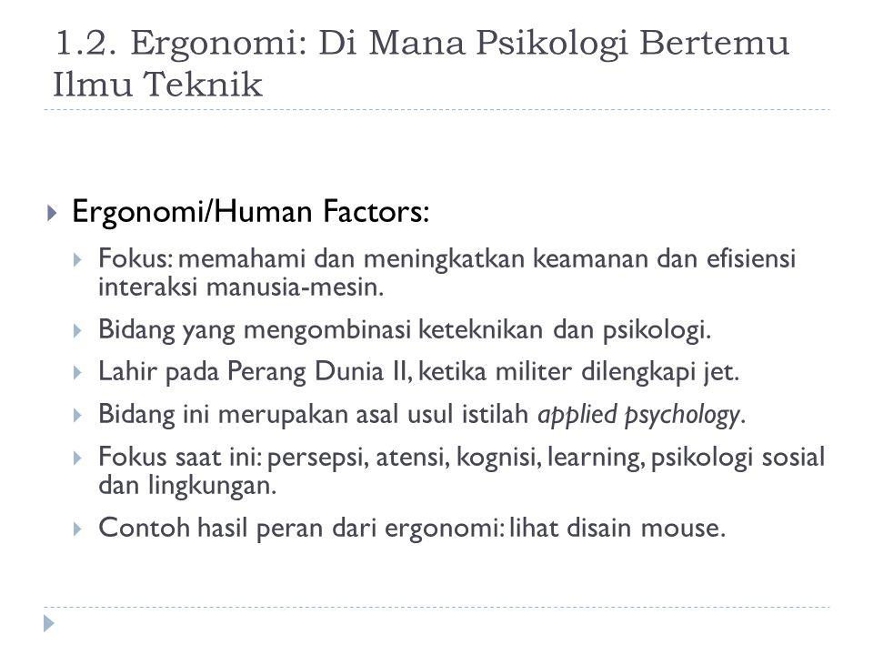 1.2. Ergonomi: Di Mana Psikologi Bertemu Ilmu Teknik