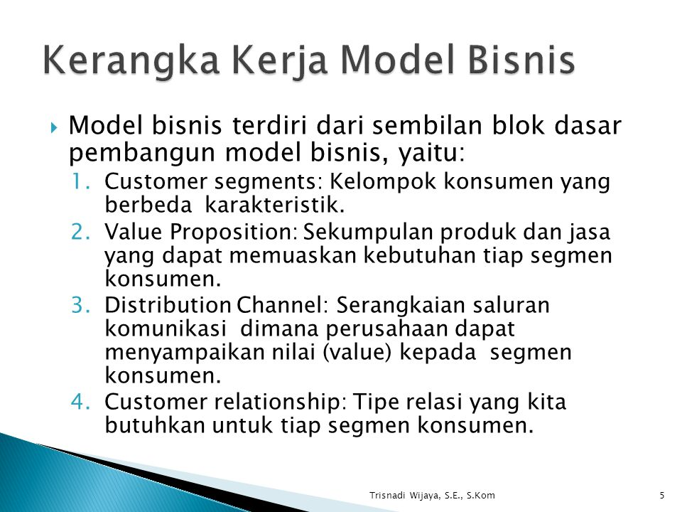 Kerangka Kerja Model Bisnis