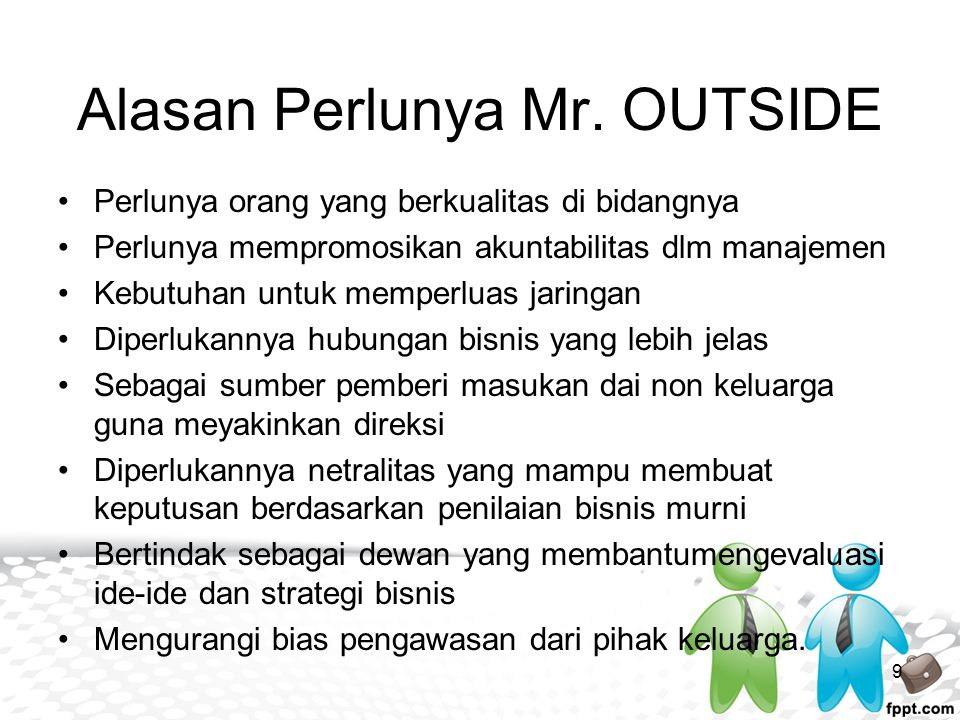 Alasan Perlunya Mr. OUTSIDE
