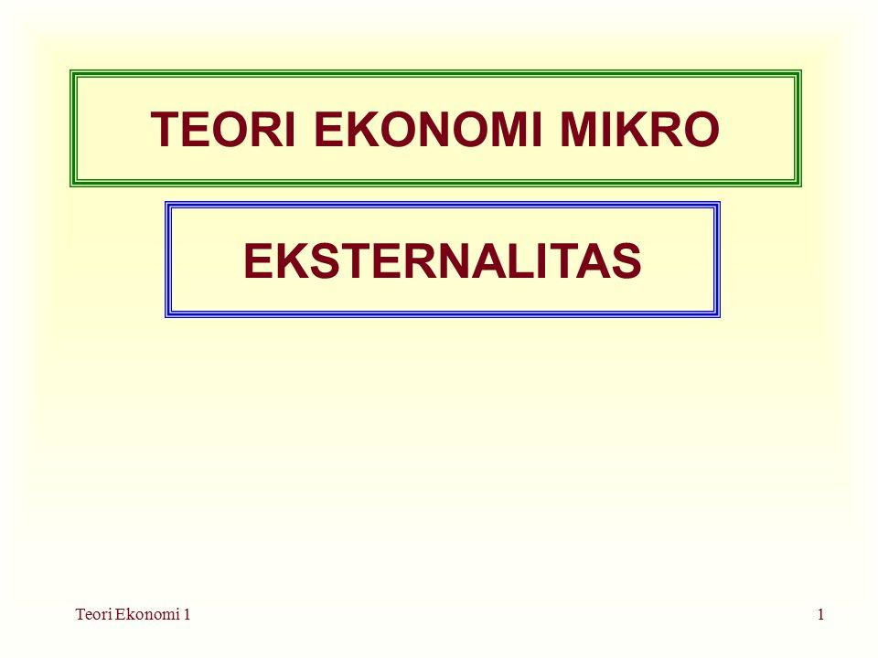 TEORI EKONOMI MIKRO EKSTERNALITAS