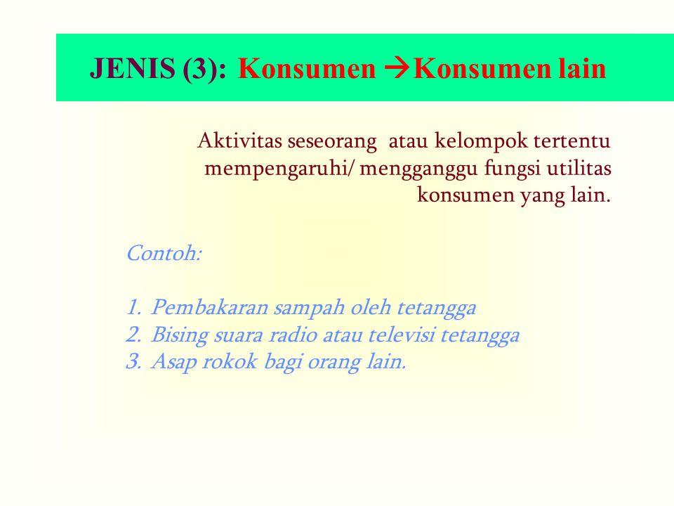 JENIS (3): Konsumen Konsumen lain