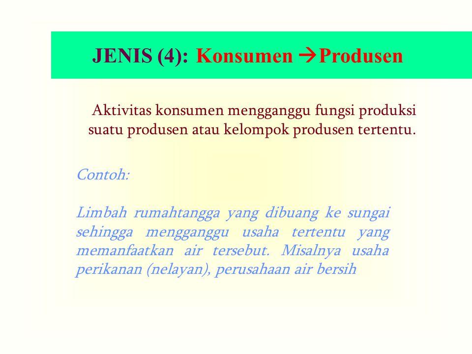 JENIS (4): Konsumen Produsen