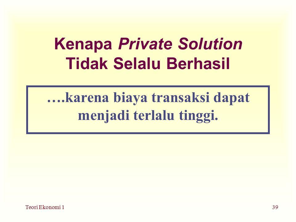 Kenapa Private Solution Tidak Selalu Berhasil