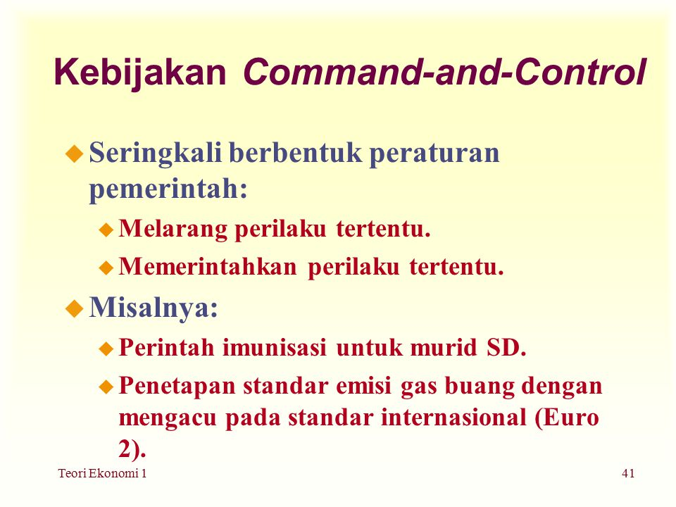 Kebijakan Command-and-Control