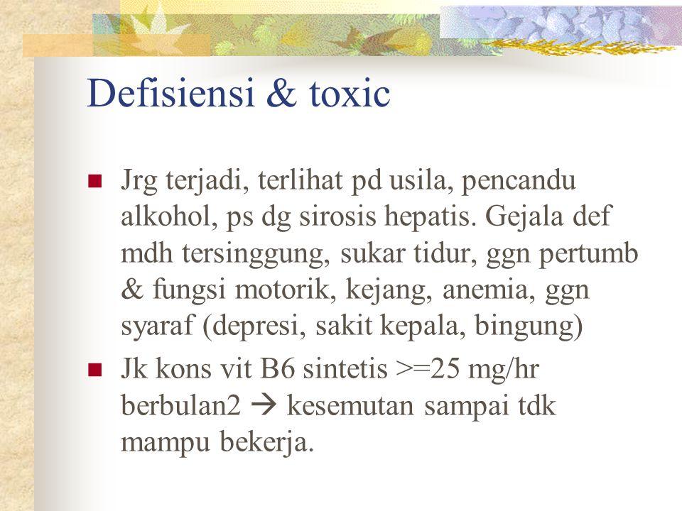 Defisiensi & toxic
