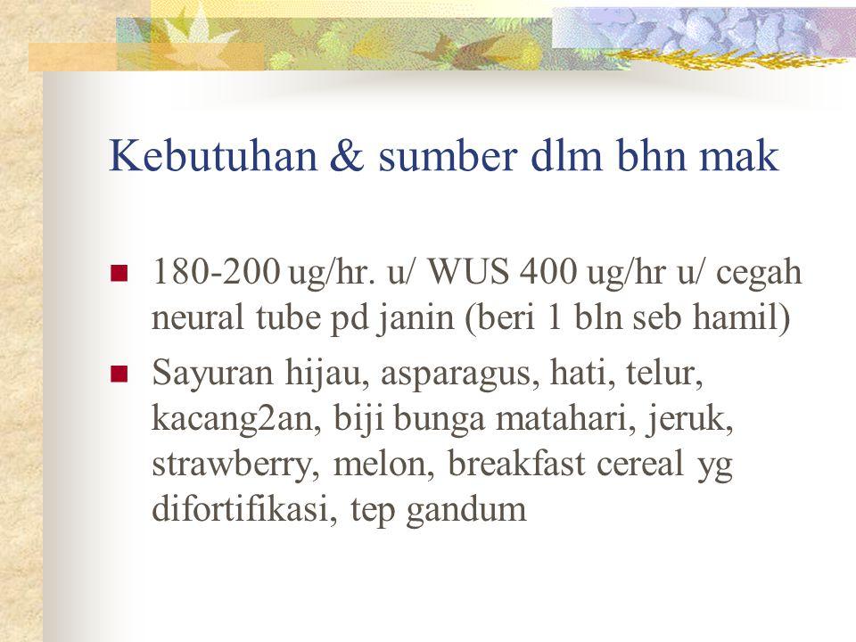 Kebutuhan & sumber dlm bhn mak