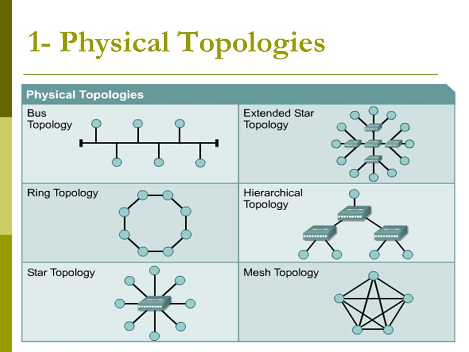 1- Physical Topologies