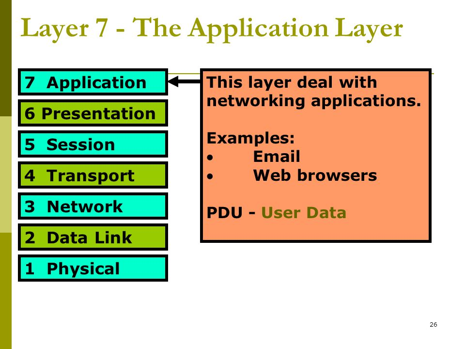 Layer 7 - The Application Layer