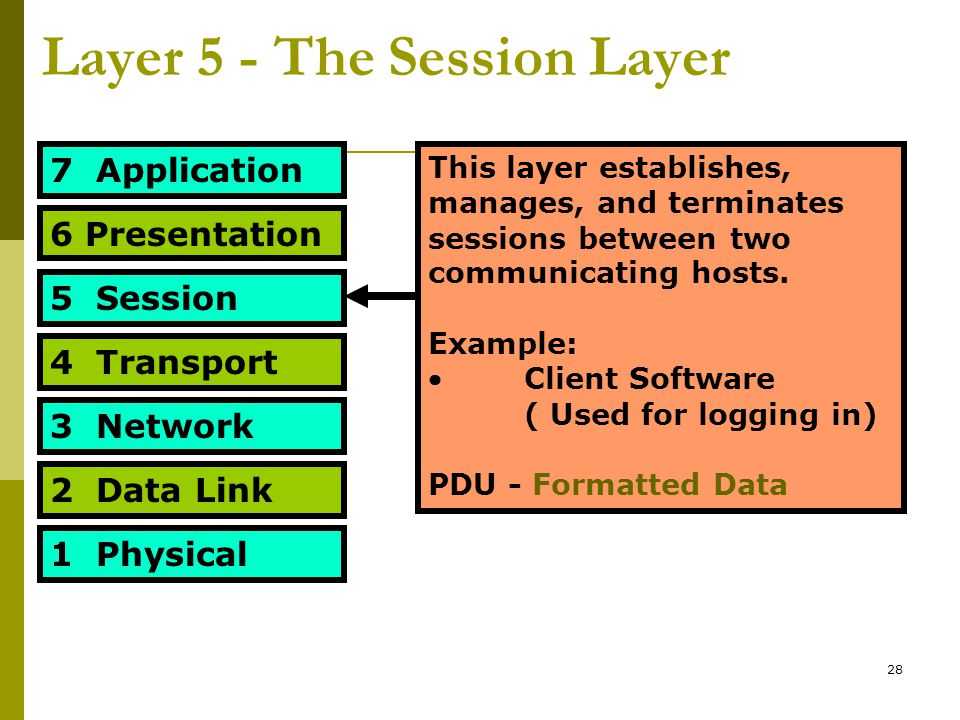 Layer 5 - The Session Layer