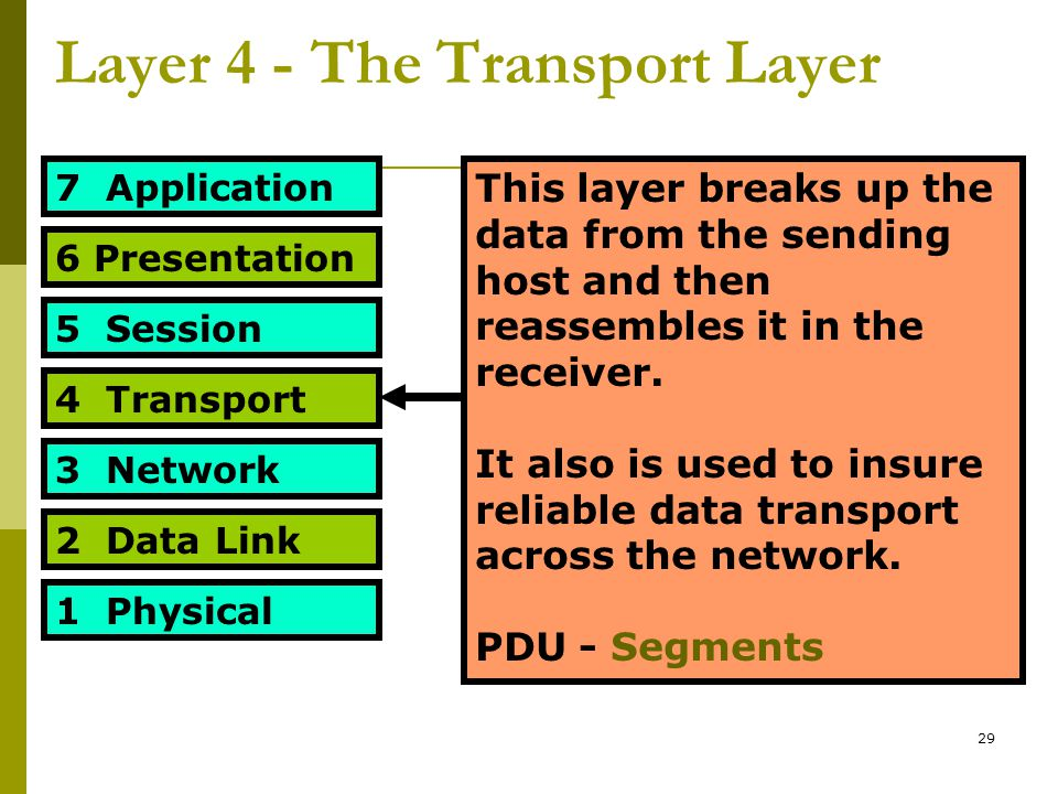 Layer 4 - The Transport Layer