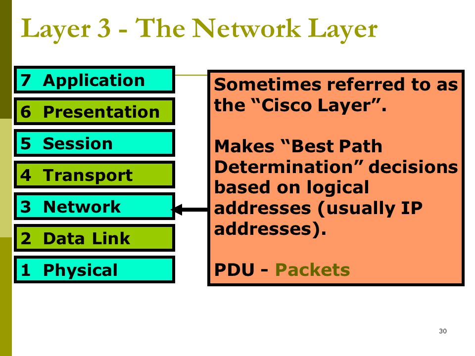 Layer 3 - The Network Layer