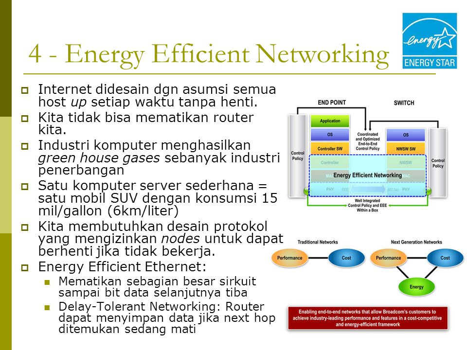 4 - Energy Efficient Networking