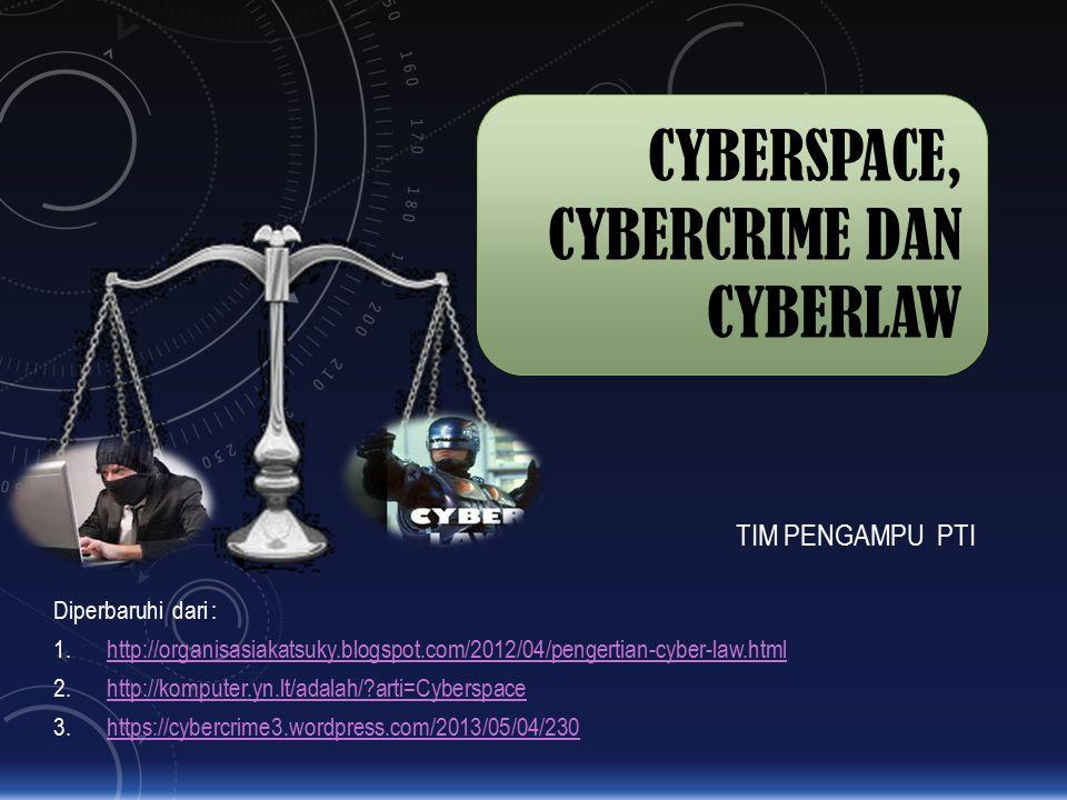 CYBERSPACE, CYBERCRIME DAN CYBERLAW