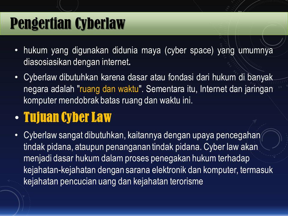 Pengertian Cyberlaw Tujuan Cyber Law
