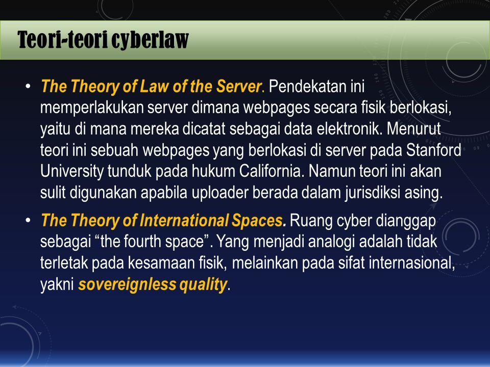 Teori-teori cyberlaw