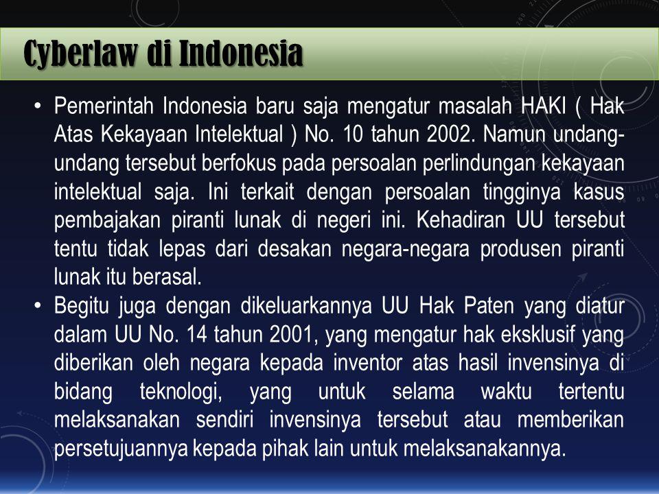 Cyberlaw di Indonesia