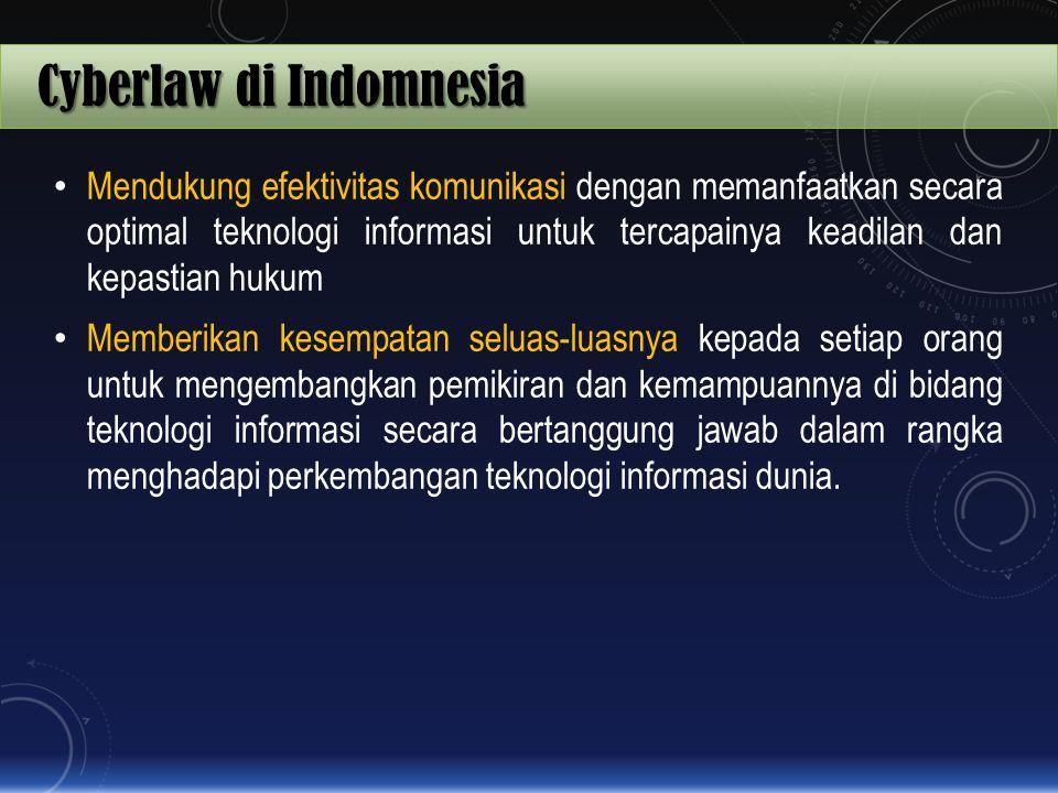 Cyberlaw di Indomnesia