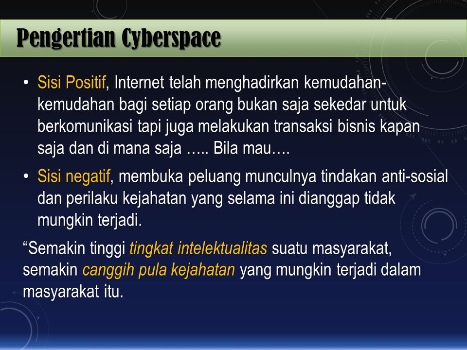Pengertian Cyberspace