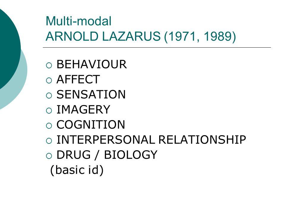 Multi-modal ARNOLD LAZARUS (1971, 1989)