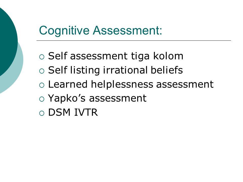 Cognitive Assessment: