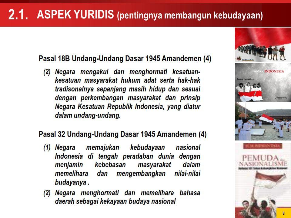 ASPEK YURIDIS (pentingnya membangun kebudayaan)
