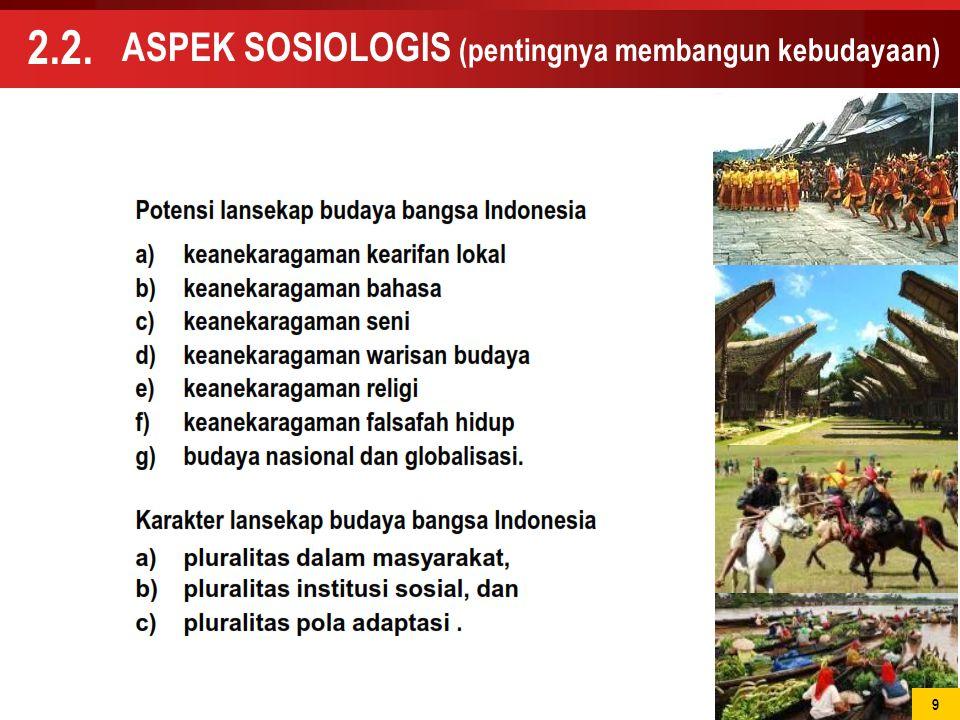 ASPEK SOSIOLOGIS (pentingnya membangun kebudayaan)