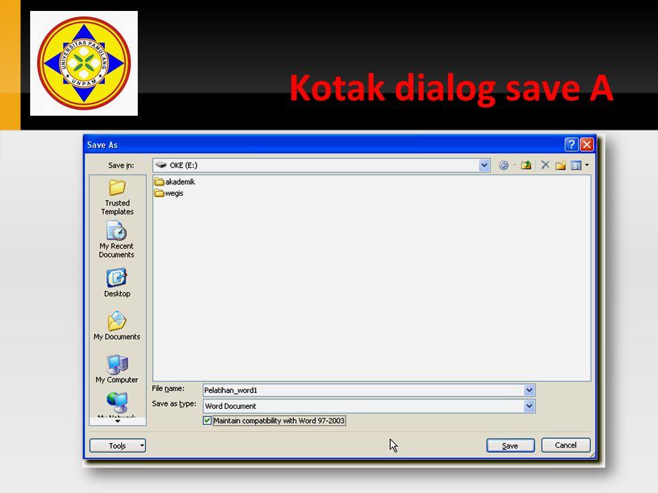 Kotak dialog save A