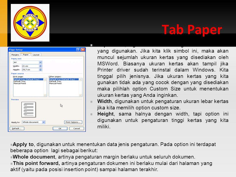 Tab Paper