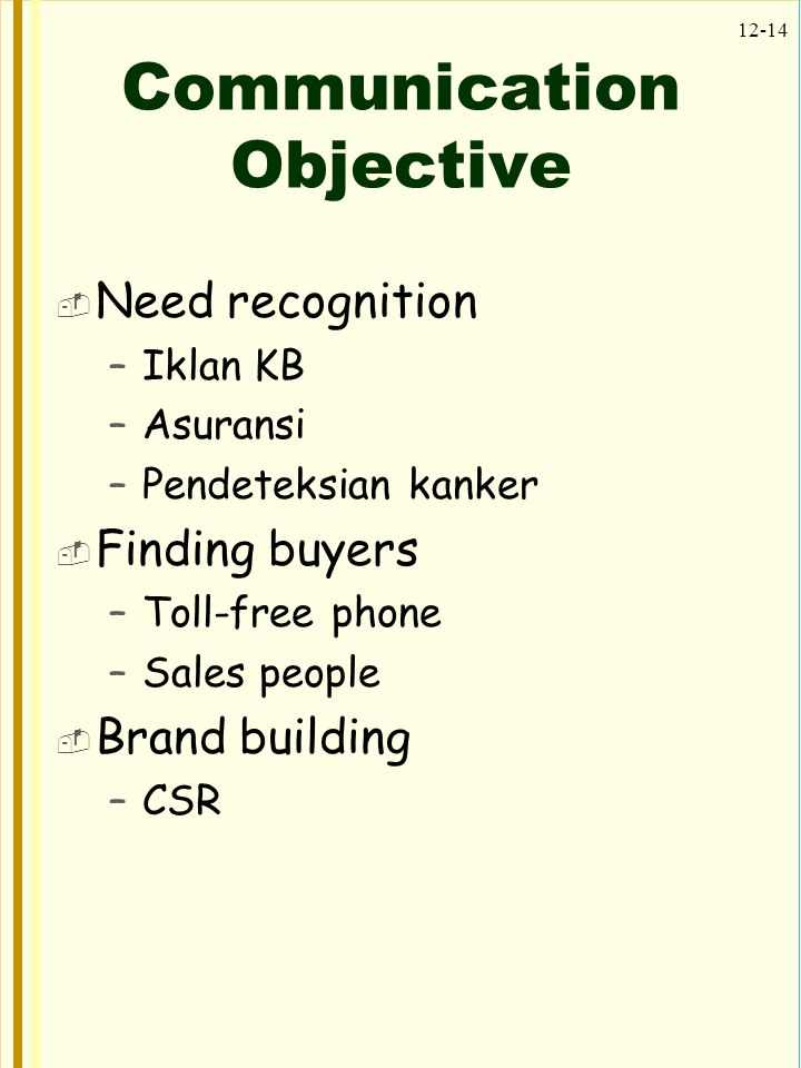 Communication Objective
