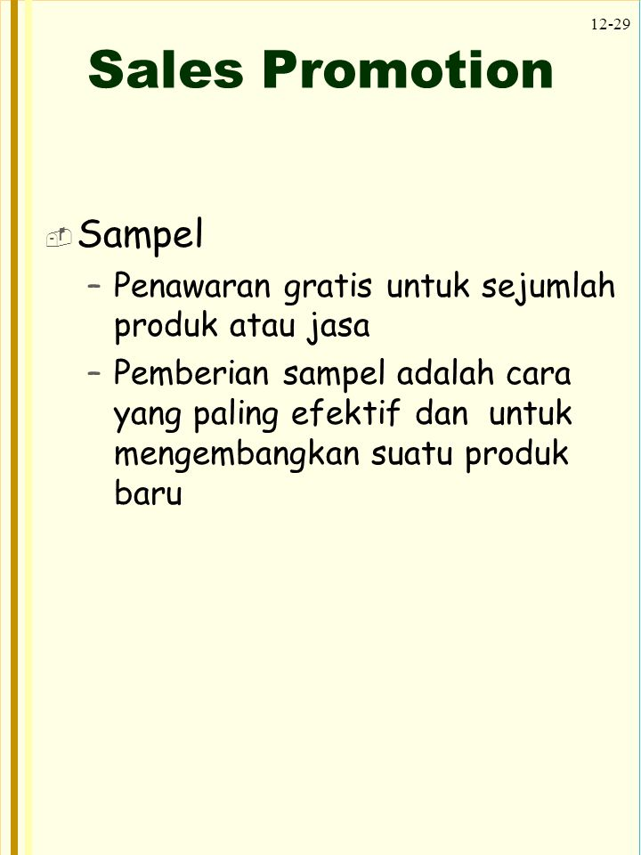 Sales Promotion Sampel