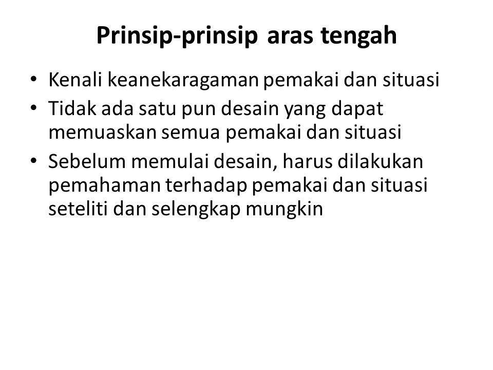 Prinsip-prinsip aras tengah