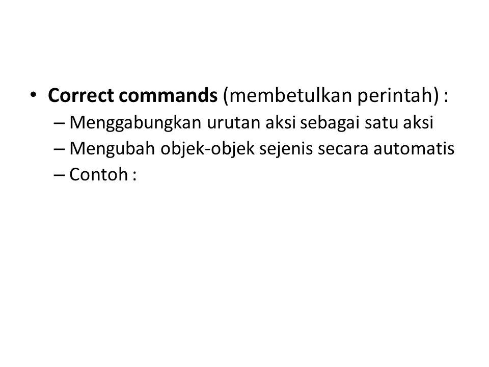 Correct commands (membetulkan perintah) :