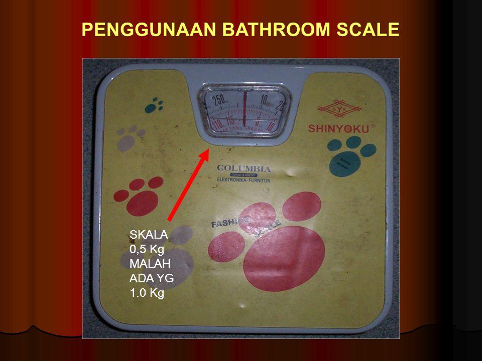PENGGUNAAN BATHROOM SCALE